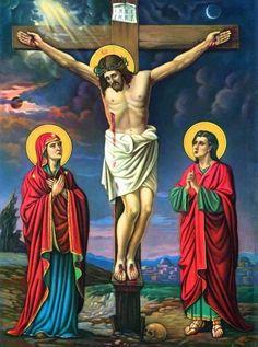 Religious Paintings, Religious Pictures, Religious Icons, Religious Art, Jesus E Maria, Crucifixion Of Jesus, Pictures Of Jesus Christ, Jesus Wallpaper, Christian Pictures