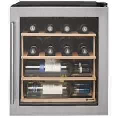12 Bottle stainless steel wine cooler.
