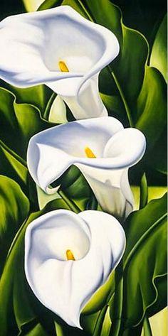 pinturas-verticales-de-flores-al-oleo                              …
