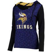 Women s Concepts Sport Purple Black Minnesota Vikings Dynamic Long Sleeve  Hooded T-Shirt Viking c95079b4f