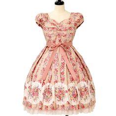 ローズブーケストライプワンピース  ロリィタファッション Victorian Maiden | ヴィクトリアンメイデン