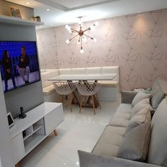 Tv Decor, Home Decor, Dinner Room, Ikea Pax Wardrobe, Condo Living, Dining Room Bar, Living Room Designs, Bedroom Furniture, Sweet Home