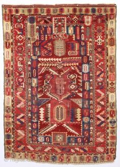 antique anatolian melas rug. Astonishingly complex design with sublime natural colors. Clean with a soft supple handle. Mostly good pile, few small spots of wear as shown. I see no major repairs ...