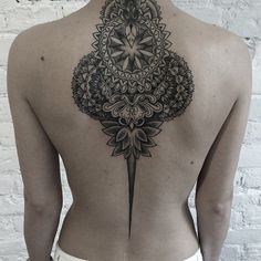 Mandala Back Tattoo for Woman - 30  Intricate Mandala Tattoo Designs  <3…