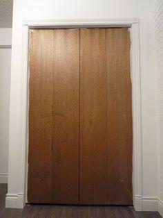 d i y d e s i g n: Bi-Fold Closet Door Makeover: