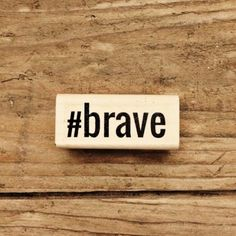 NEED THIS: Brave (hashtag) Wooden Stamp - rukristin papercrafts Shop