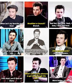 Chris Colfer and his love for food