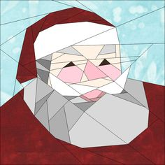 "Santa Festive Season Block 10"" (25cm) quiltartdesigns.blogspot.com"