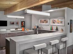 Stunning kitchen layout - River Valley Remodel by Rescom