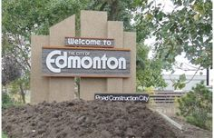 """""""City of Champions"""" signs greet drivers entering Edmonton, so motorists were surprised to see them replaced with new slogans applied by vandals overnight. These included: City of Shenanigans, City of Speed Traps, Suck it Calgary, Road Construction City, and City of Champignons. (Oct 2013)"""