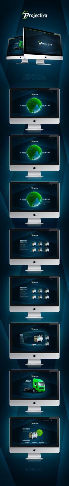 Projectiva #Website by João Alberto, via #Behance