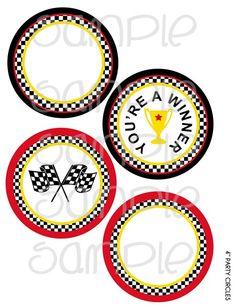 """Race Car 4"""" Party Circle"""