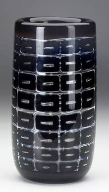 Orrefors Ariel glass vase by Edvin Öhrström, 10.25cm diam, c.1950s