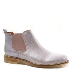 Low boots MKD Minka Design Sevilla Cuir Bleu Ciel nacré