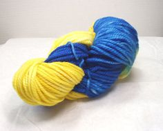Bulky Merino Superwash  / Hand Dyed  Wool by SunnyhillFiberDreams