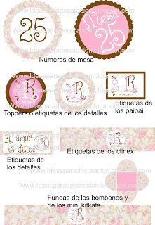Ideas para la decoración de Fiestas Infantiles: Kit de boda floral