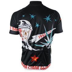Soviet Space Cycling Jersey - Back View - FREE SHIPPING - http://www.cyclegarb.com/83-sportswear-cycling-jerseys.html