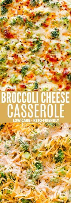 Broccoli Cheese Casserole - A creamy and savory Broccoli Cheese Casserole prepared with fresh broccoli and a seasoned cheddar and cream cheese sauce. This is a 30-minute, Low Carb, Keto-Friendly dish that's ALWAYS a crowd favorite! #broccoliandcheese