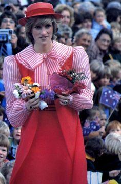 Princess Diana in Australia in 1983.