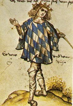 Bavarian herald Joerg Rugenn wearing a tabard of the arms around 1510