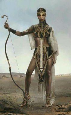 Nubian Warrior Queen - Black is Beautiful has always been! Warrior Princess, Warrior Queen, Woman Warrior, Goddess Warrior, African American Art, African Art, Black Women Art, Black Art, Character Inspiration