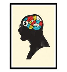 Heisenberg Phrenology - Chris Wharton. Art-Poster and prints published by Wall Editions. Illustration Format : 50 x 70 cm