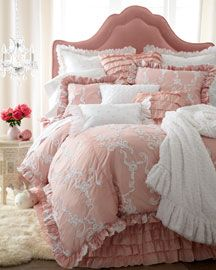 "Pretty pink. Isabella Collection ""Catherine"" bed linens."