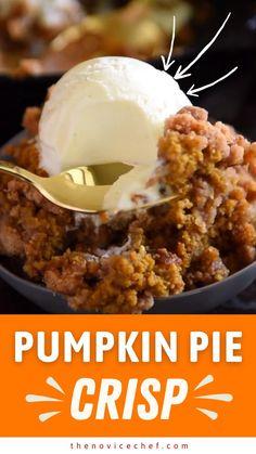 Fall Desserts, Sweet Desserts, Just Desserts, Delicious Desserts, Dessert Recipes, Yummy Food, Thanksgiving Recipes, Fall Recipes, Sweet Recipes