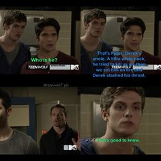 Teen Wolf- love this scene! Teen Wolf Mtv, Teen Wolf Funny, Teen Wolf Dylan, Teen Wolf Cast, Sterek, Stydia, Best Tv Shows, Best Shows Ever, Favorite Tv Shows