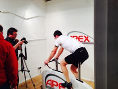 The Apex bike being photographed today in our studio
