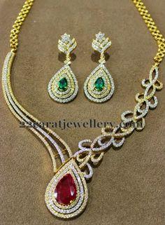 Jewellery Designs: Fancy Collar Diamond Choker