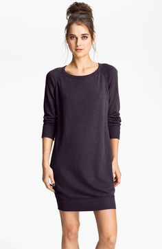 James Perse Raglan Sleeve Sweatshirt Dress | Nordstrom