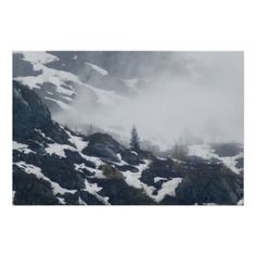 A Tree in the Mist Print from Florals by Fred #zazzle #gift