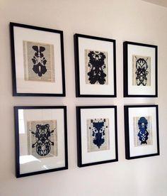 Framed Rorschach Ink Blot