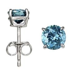 OMG hell ofa deal   14K White Gold, Round, Blue Diamond Stud Earrings (4/5 ctw) DivaDiamonds, http://www.amazon.com/dp/B001ISSRK8/ref=cm_sw_r_pi_dp_uMkxqb08DA5MW
