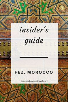 The imperial city of Fez is full of mystery. Read this guide to get your bearings before wandering the medina. Fes, Morocco, Mystery, How To Get, City, Reading, Cities, Reading Books
