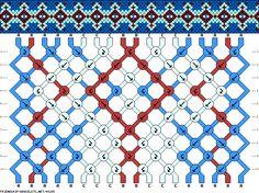 18 strings 10 rows 3 colors
