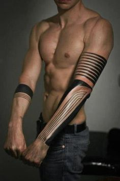 """Play with  Light and Shadow."" Lines. Geometrical. Tattoos, body art."