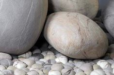 Outdoor Boulder Cushions - felted wool pillows