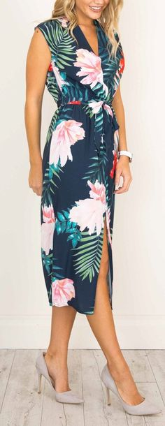 Ma jolie robe longue tropical flowers