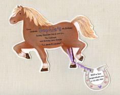 horse bake riding party ideas | ... - Birthday Party Invitations - Horse Pony Birthday Party - Set of 15