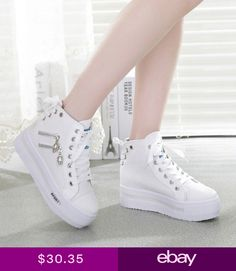 Details about Women Canvas shoes Platform sneakers Sports Running traveling shoes - Ropa cnco - Womensshoes Cute Sneakers, Sneakers Mode, Sneakers Fashion, Fashion Shoes, Chanel Sneakers, Men Sneakers, Sneakers Adidas, Prom Shoes, Shoes Heels