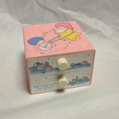 Little Twin Stars Vintage 1985 tiny plastic drawer Sanrio Retro RARE From Japan