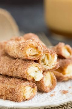 Cream Cheese Cinnamon Rollups is a sweet creamy filling rolled between layers of crust with a light dusting of a cinnamon-sugar coating.