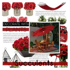 """LIttle Bit Of Red!"" by isabeldizova ❤ liked on Polyvore featuring interior, interiors, interior design, home, home decor, interior decorating, The French Bee, LSA International, Picnic Time and Improvements"