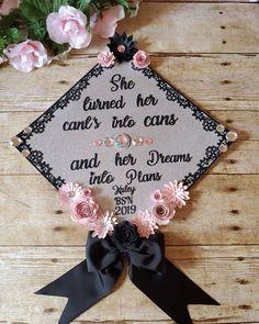 Fancy graduation cap topper Custom Graduation Caps, Graduation Cap Toppers, Nursing, Fancy, School, Breast Feeding, Nurses