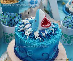 Too Cute Shark cake topper!