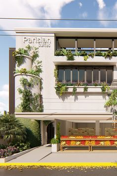 A Parisian concept, this is a renovation project converting an existing 4 level house into a business hotel while retaining the store on the ground level. The existing structure has a unique character that the client wants to be retained. The introduction of plants in the façade showcases the identity of the client. Cebu, How To Level Ground, Design Firms, Parisian, Philippines, Facade, Identity, Concept, Boutique