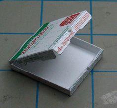 miniature pizza box tutorial with free printable