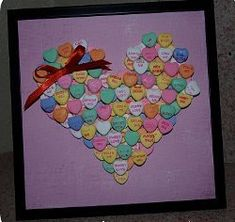 Conversation Candy Heart Picture | AllFreeHolidayCrafts.com